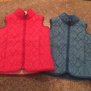 Two Quilted Vests for Spring or Fall